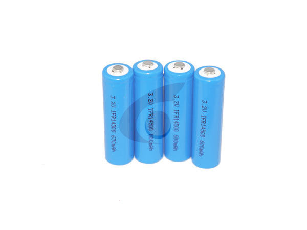 14505 / 14500 AA 3.2V LiFePO4 Battery 600mah For Solar Product
