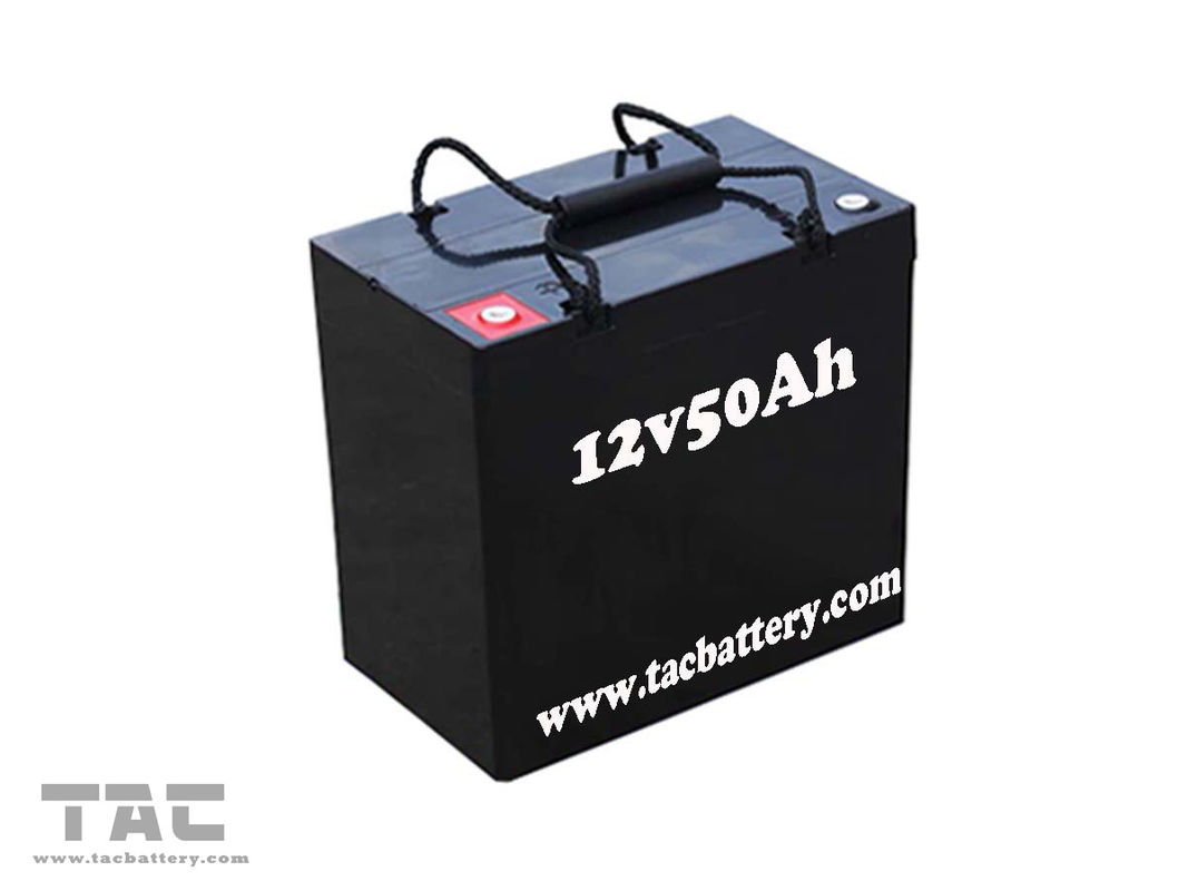 Black 12V 50AH AGM Dry Lead Acid Car Battery For Electric Bike ROHS and UL and CE