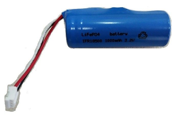 PCB And NTC Lifepo4 Battery 3.2 V 18500 1000mAh 12 Months Warranty